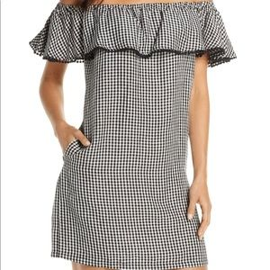 NWT Off the Shoulder Gingham Cover-Up Dress